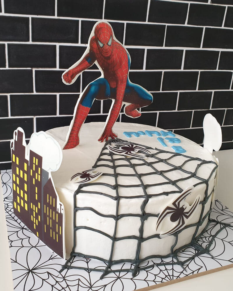 עוגת ספיידרמן ליום הולדת