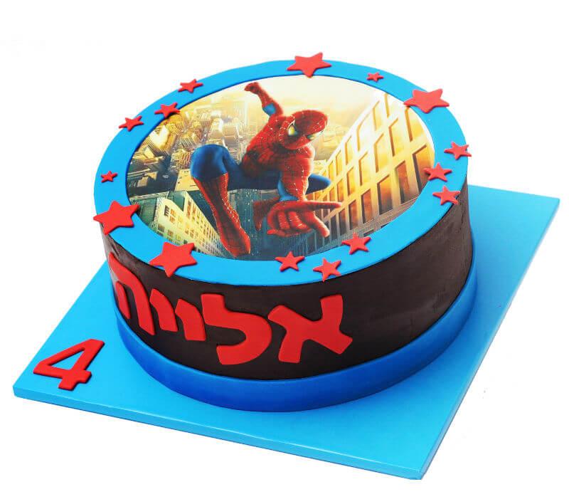 עוגת יום הולדת ספיידרמן