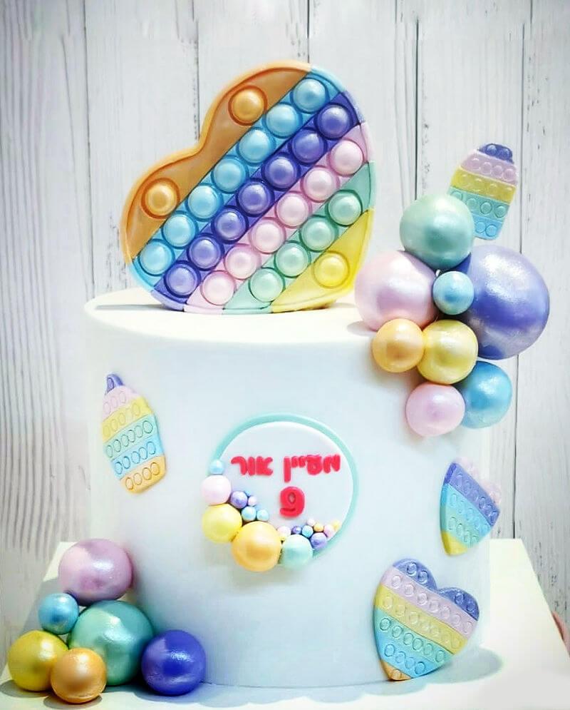 עוגת פופיט מעוצבת ליום הולדת
