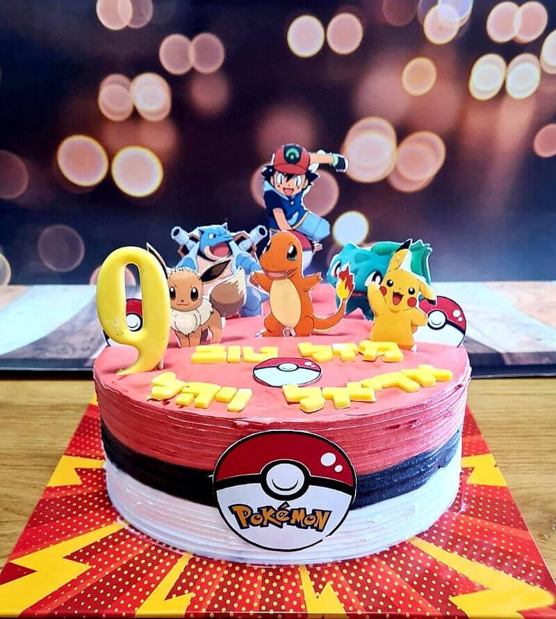 עוגת פוקימון מעוצבת