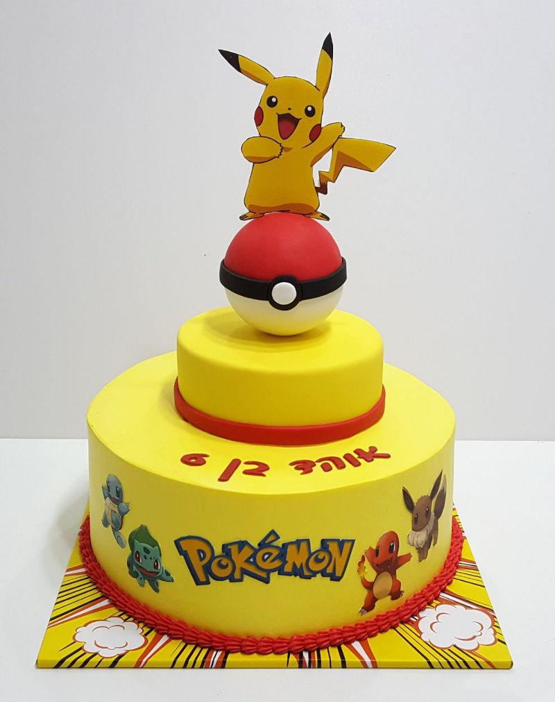 עוגת פוקימון פיקאצו ליום הולדת