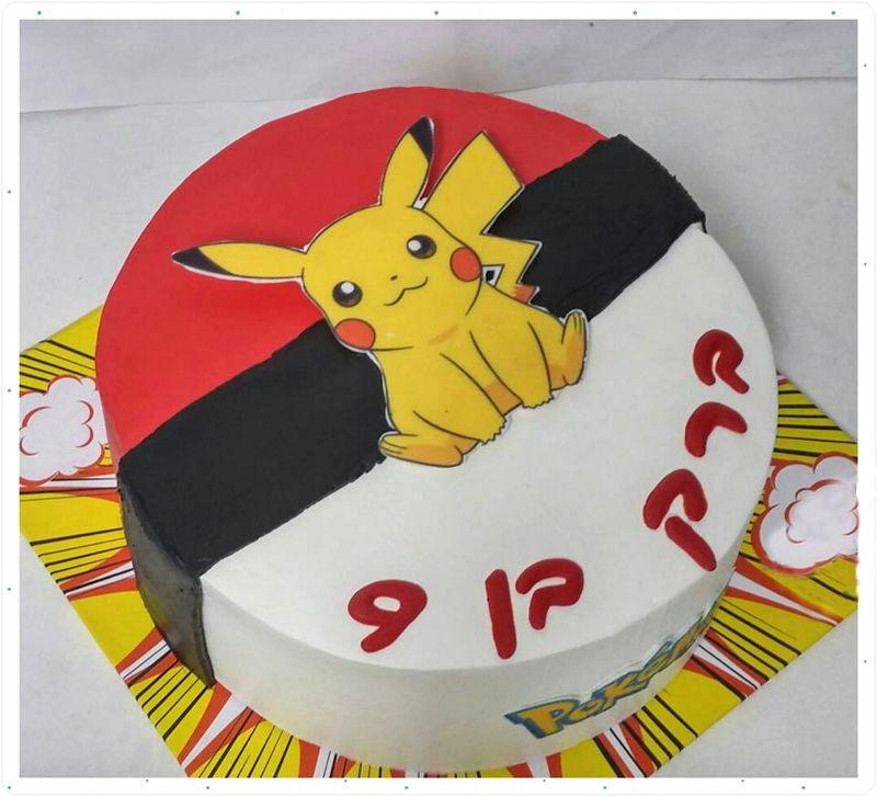 עוגת יום הולדת פוקימון פיקצו
