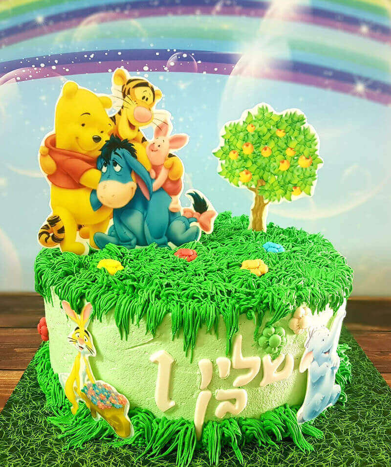 עוגת פו הדב וחברים לגיל שנה