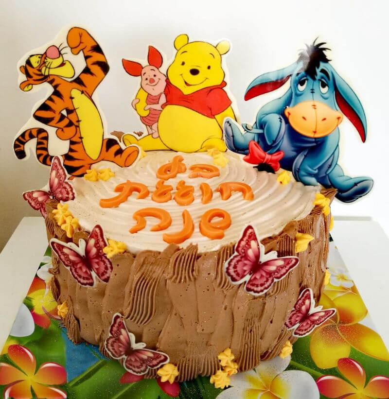 עוגת פו הדב ליום הולדת שנה