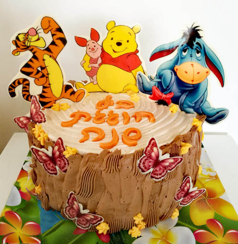 עוגת פו הדב ליום הולדת