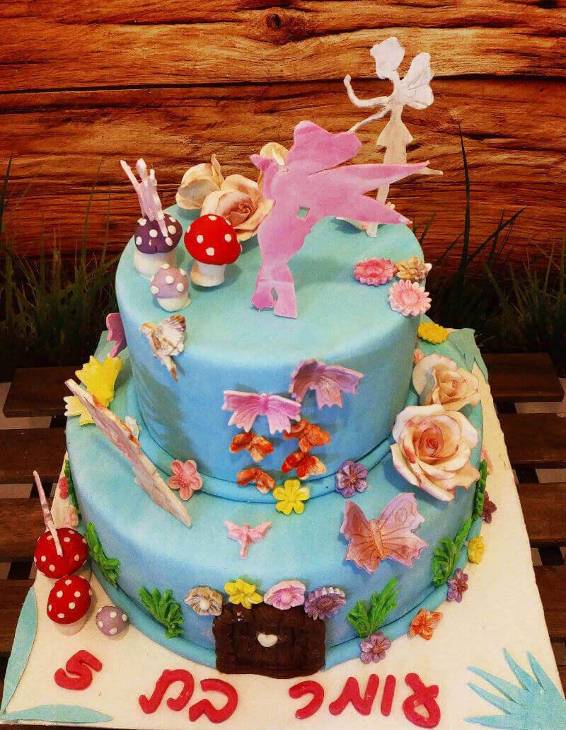 עוגת קומות של פיות ליום הולדת