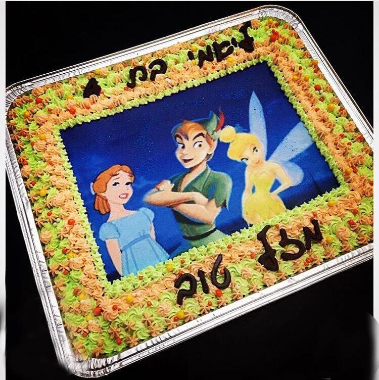 עוגת יום הולדת טינקבל מלבנית
