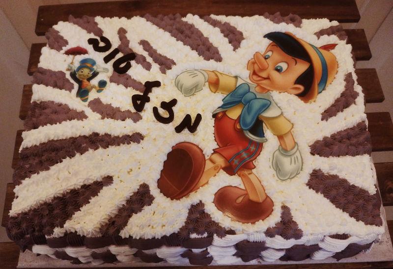 עוגת זילוף פינוקיו מיוחדת