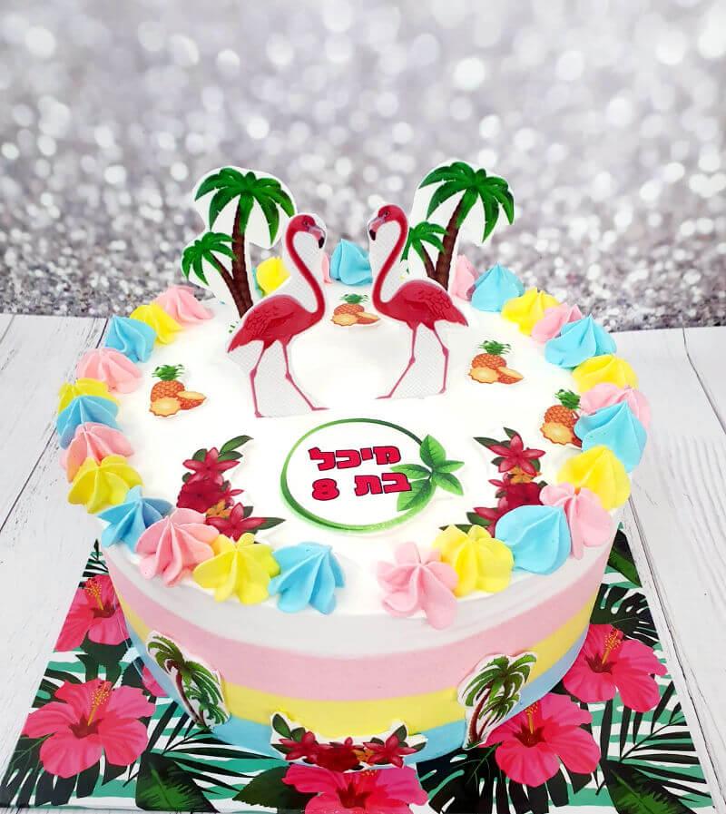 עוגת פלמינגו מעוצבת
