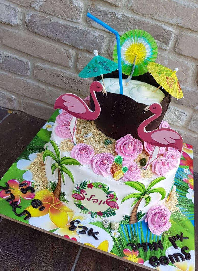 עוגת פלמינגו שחרור מצהל