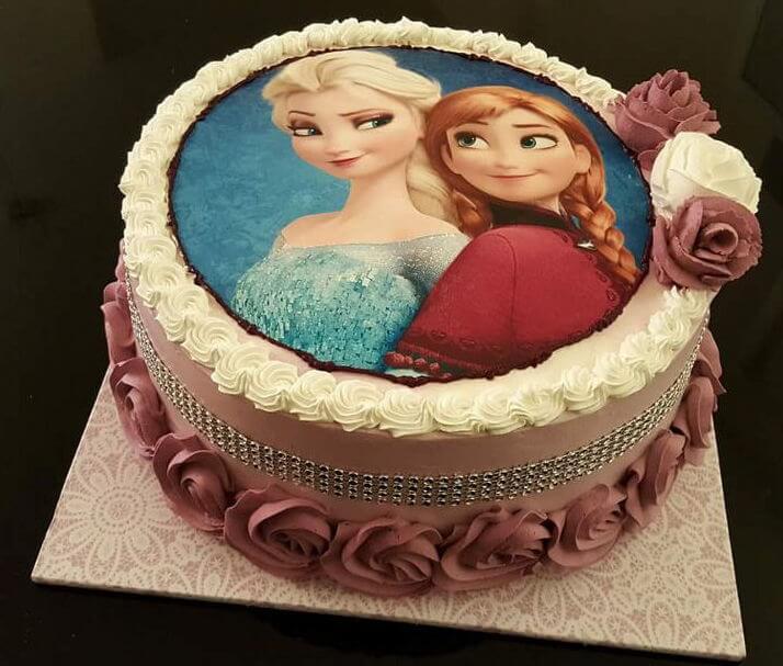 עוגת אלזה ואנה