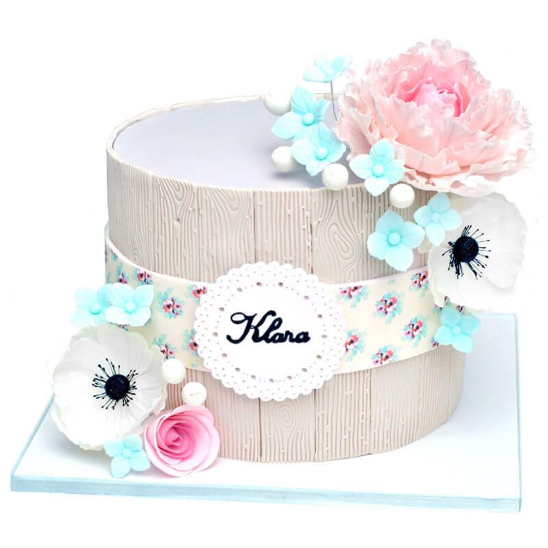 עוגת פרחים מעוצבת