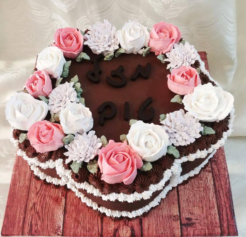 עוגת פרח באיתור זילוף פרחים
