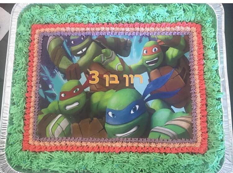 עוגת יום הולדת צבי הנינגה מלבנית