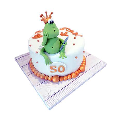 עוגת צפרדע ליום הולדת 50