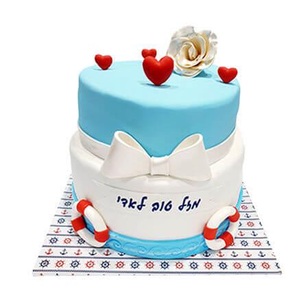 עוגת קומות בעיצוב ים