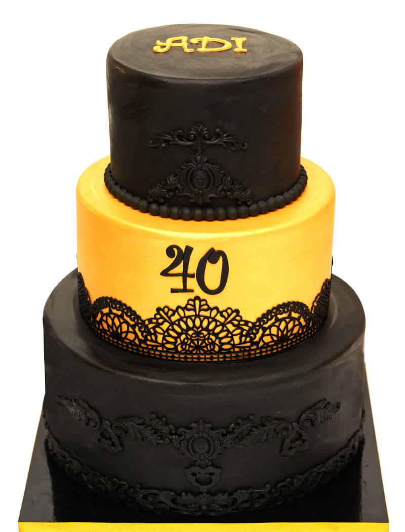 עוגת קומות ליום הולדת 40