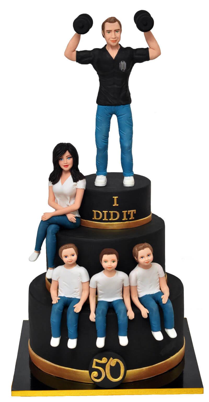 עוגת קומות לגבר לגיל 50