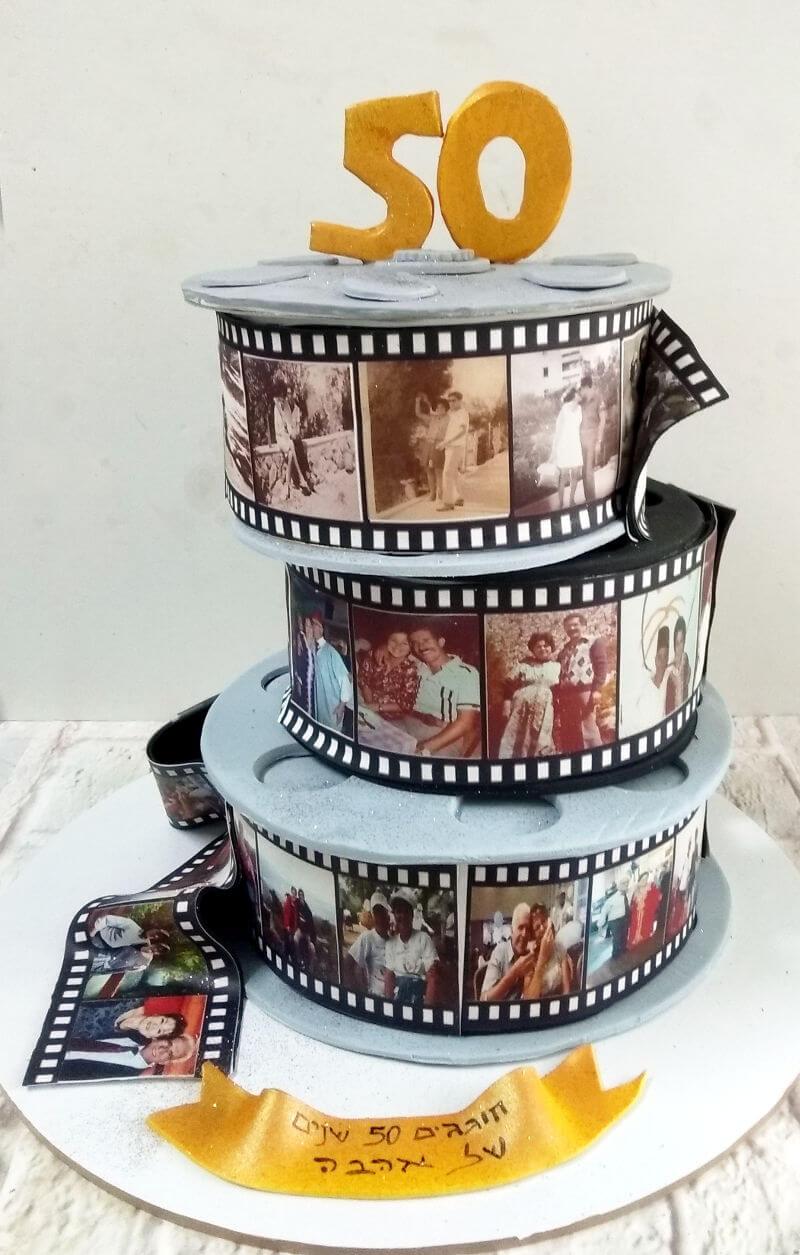 עוגת קומות ליום הולדת 50