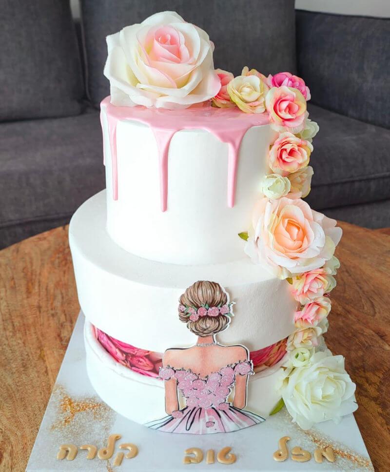 עוגת קומות מהממת לבת