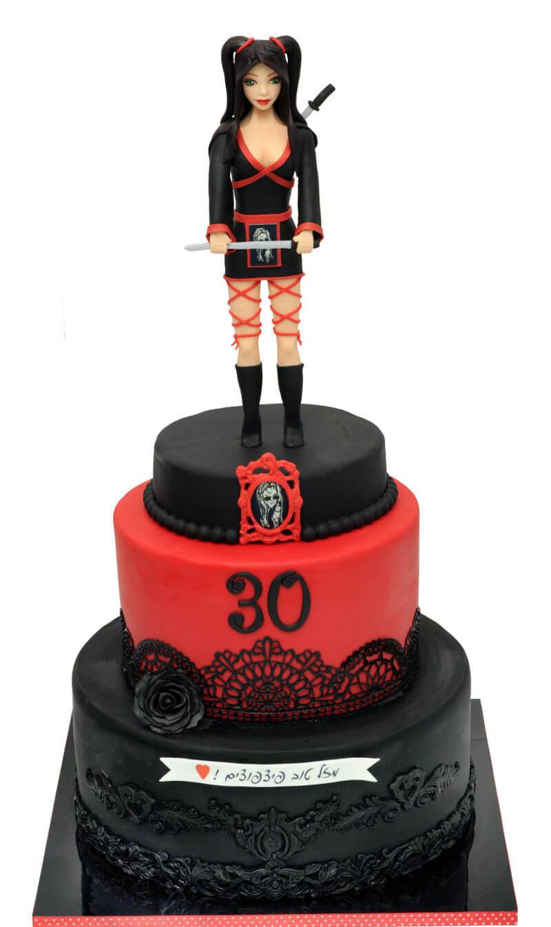 עוגת קומות מעוצבת סמוראי