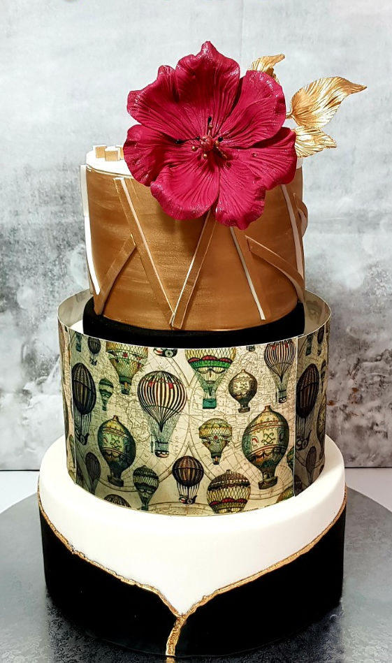 עוגת קומות מפוארת לחתונה