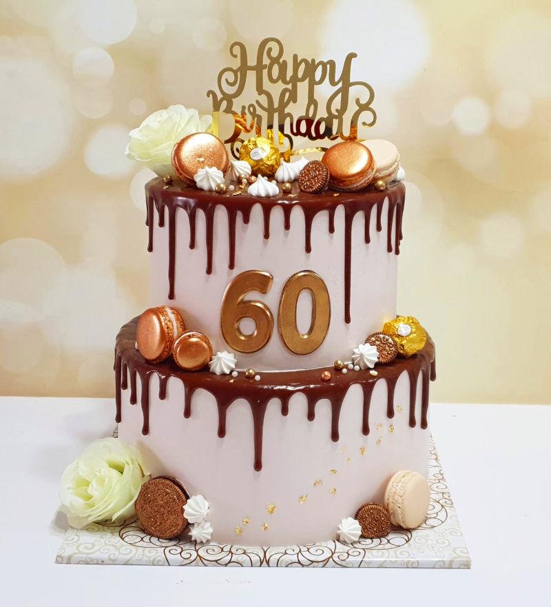 עוגת קומות מפוארת לגיל 60