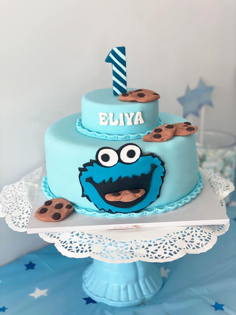 עוגת קומות עוגיפלצת לגיל שנה