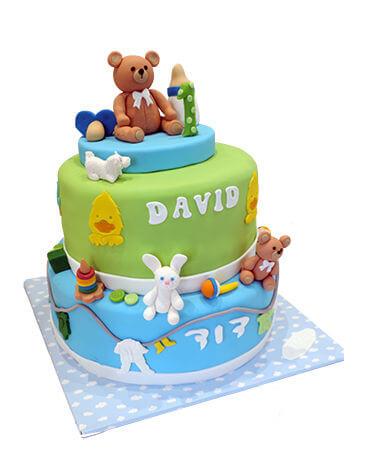 עוגת קומות עם דובי לגיל שנה