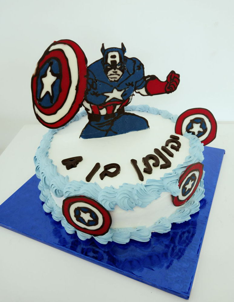עוגת קפטן אמריקה גיבורי על