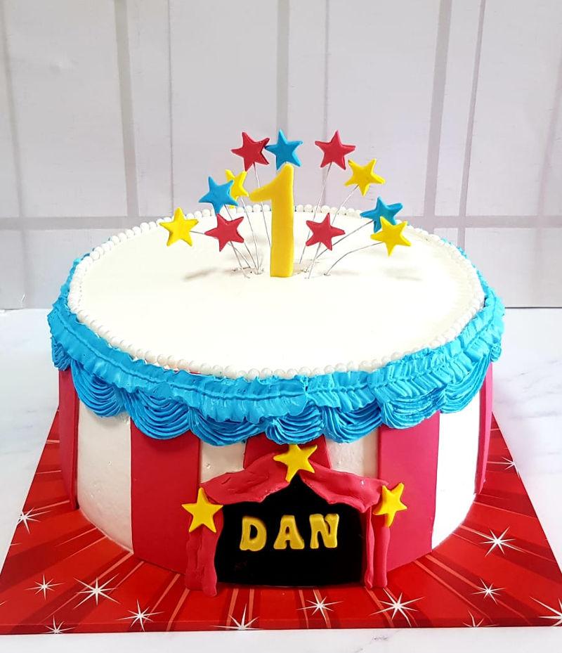 עוגת קרקס ליום הולדת שנה