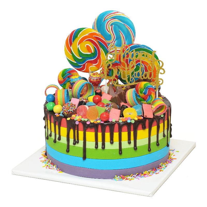 עוגת קשת ממתקים