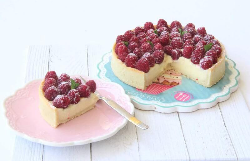 עוגת ראווה עם פטל