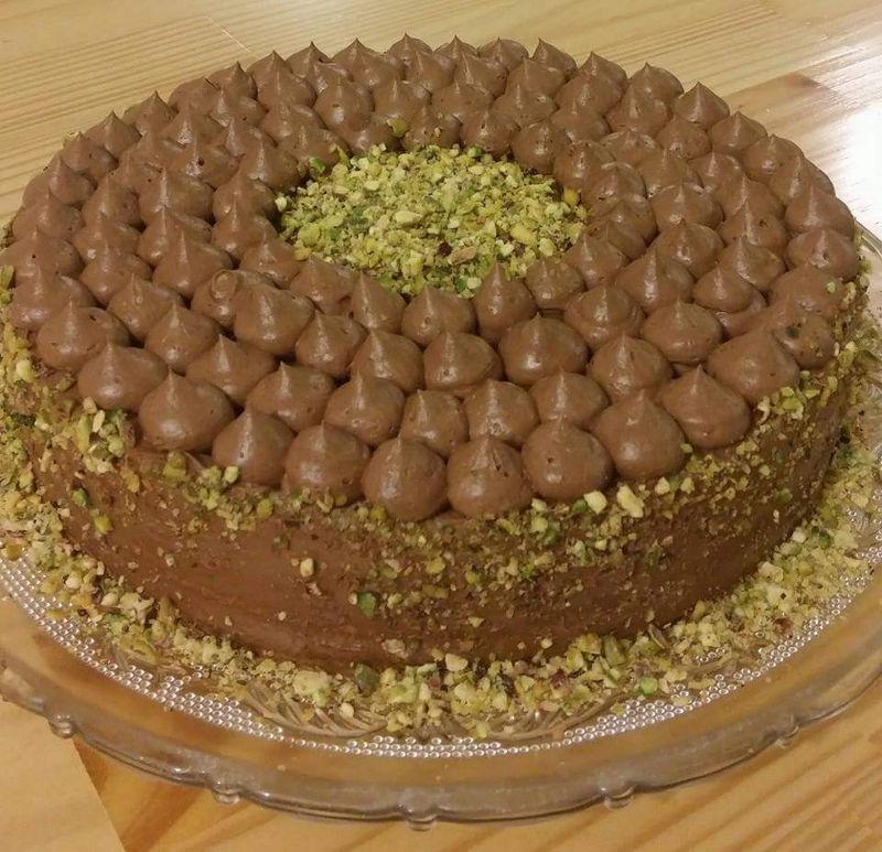 עוגת ראווה פיסטוקים ושוקולד