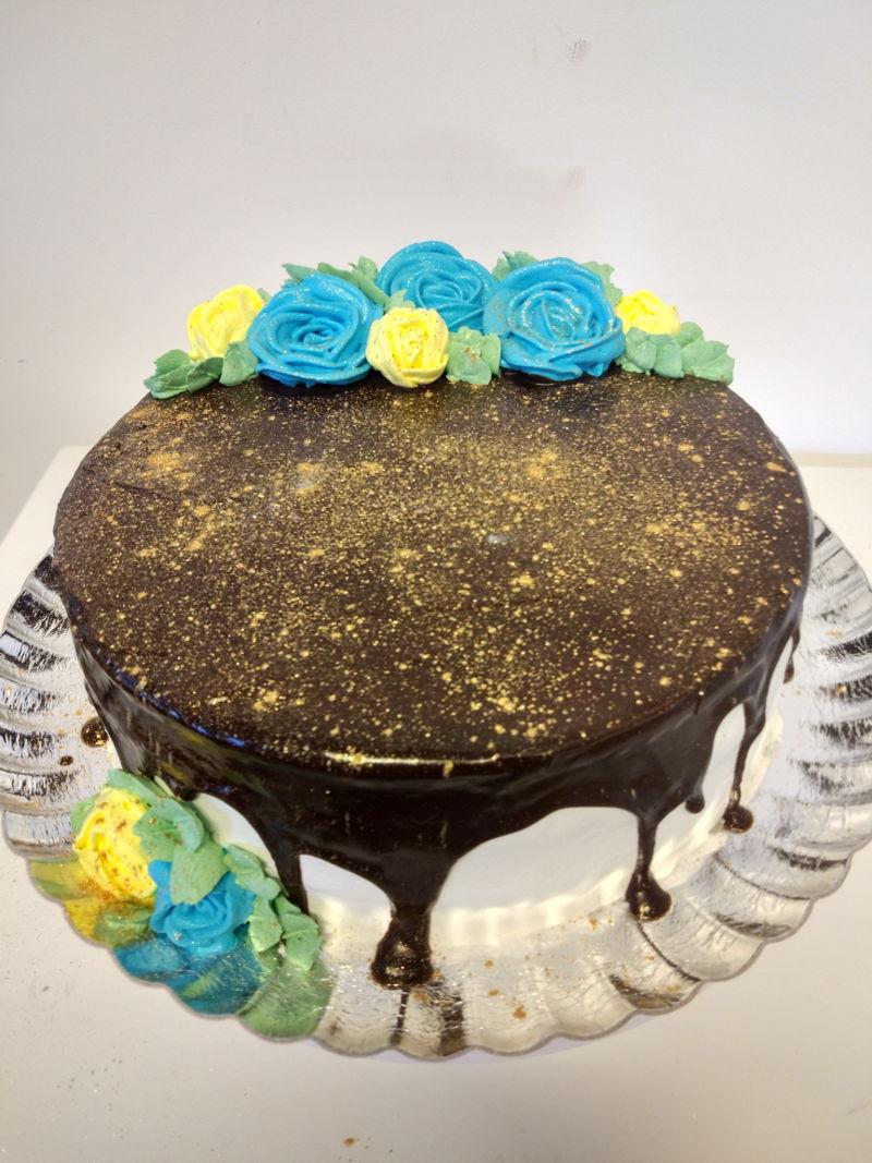 עוגת ראווה מנצנצת