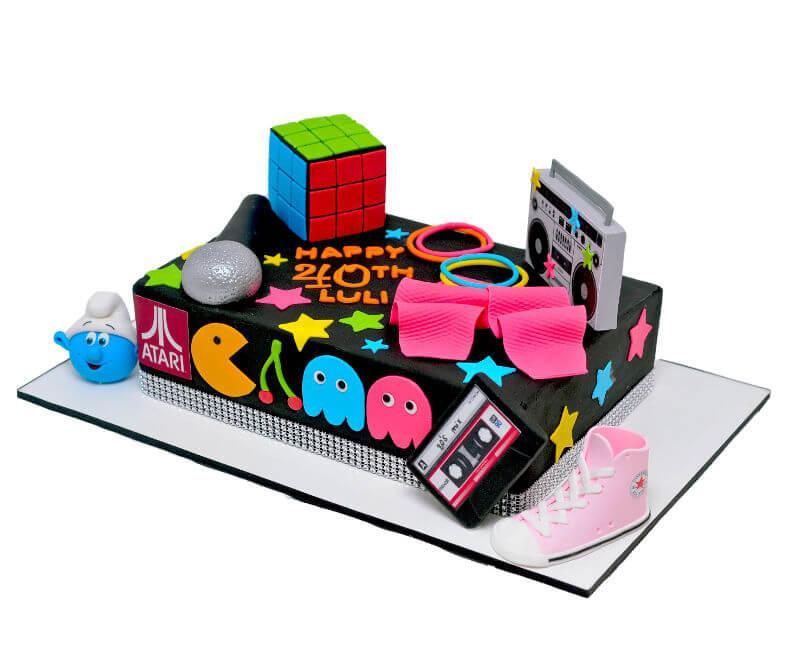 עוגת רטרו מיוחדת לאוהבי שנות ה80