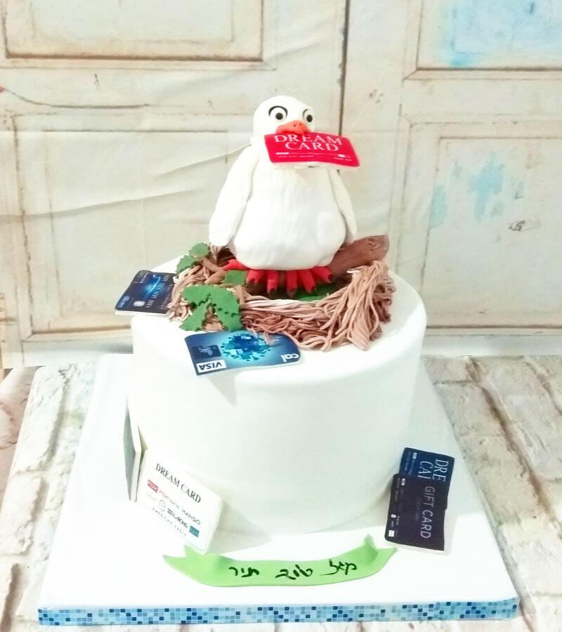 עוגת שופינג מיוחדת מבצק סוכר