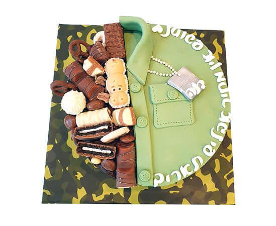 עוגת שחרור עם מלא שוקולדים