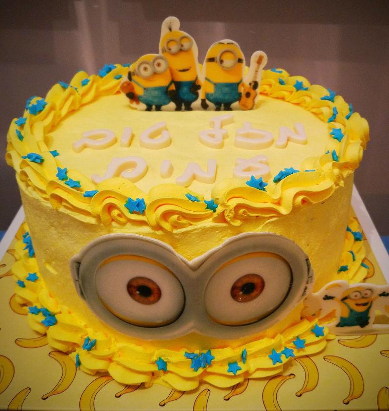 עוגה של מיניונים