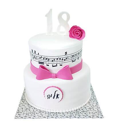 עוגת תווים לגיל 18