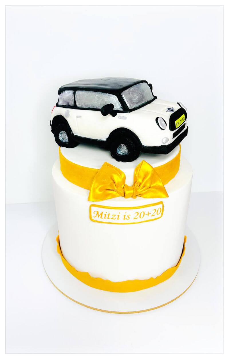 עוגת 40 עם אוטו