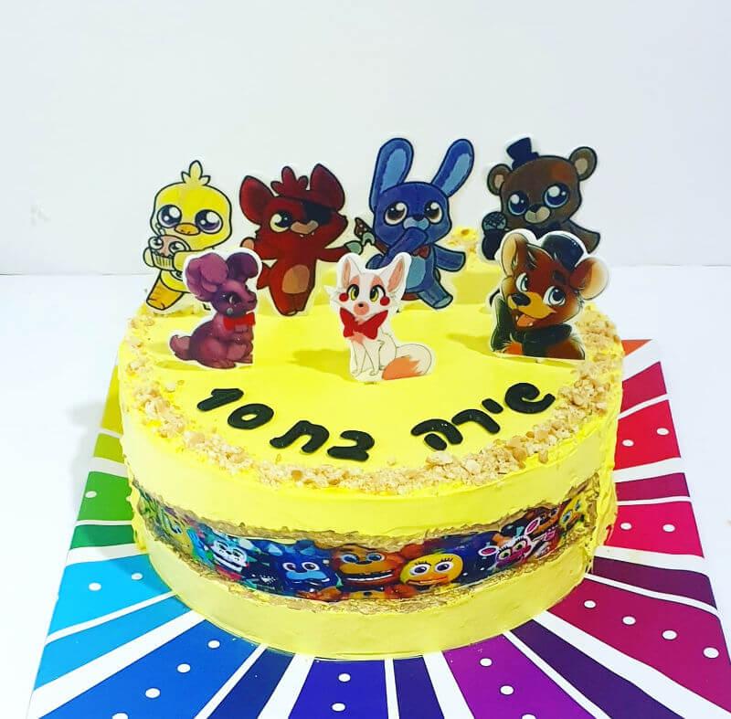 עוגת fault line cake Funnuf
