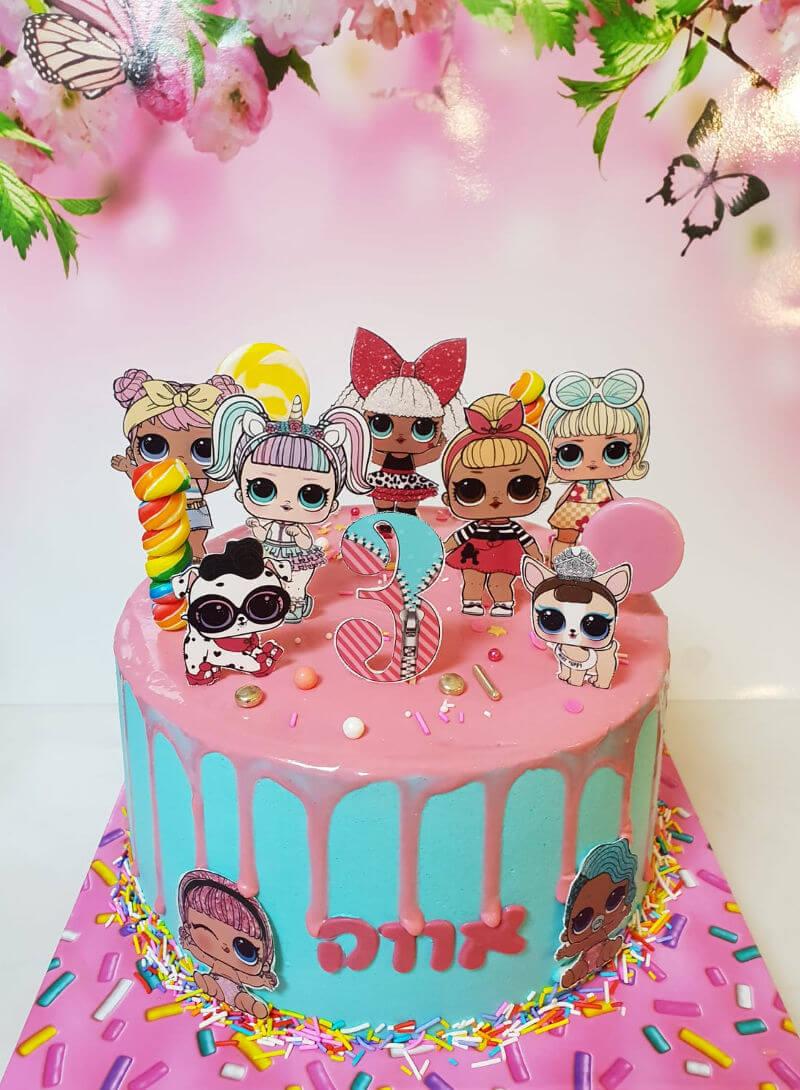 עוגת דריפ קייק LOL