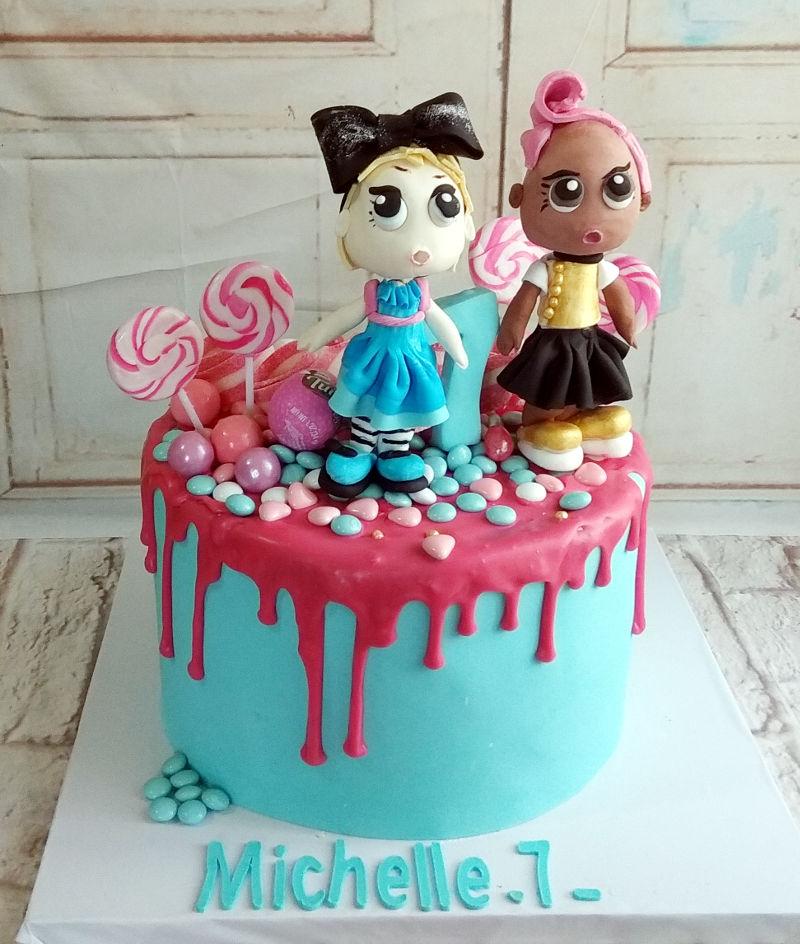 עוגה ליום הולדת LOL מבצק סוכר