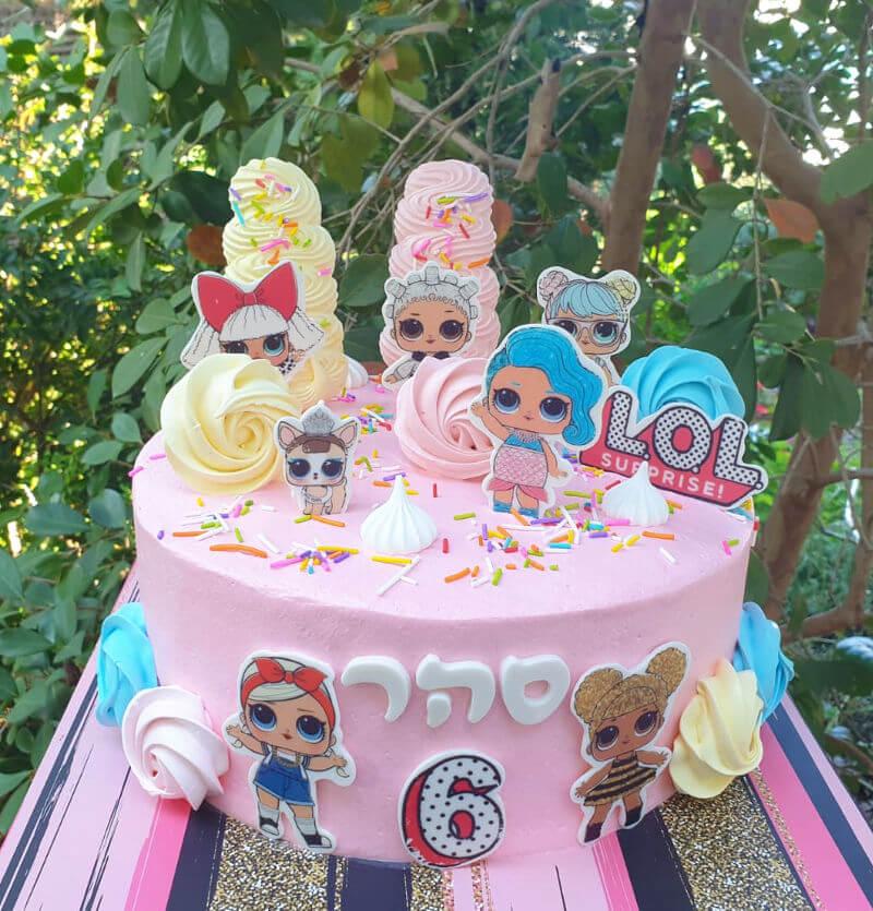 עוגה מעוצבת לול LOL