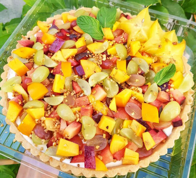פאי בצק פריך קרם ופירות טריים