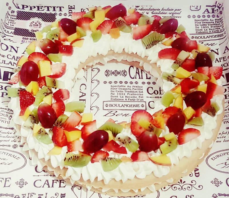 פאי בצק פריך עם קרם ופירות פריים לשבת