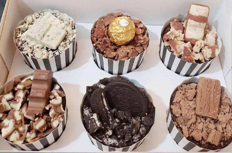 קאפקייקס שוקולד בטעמים