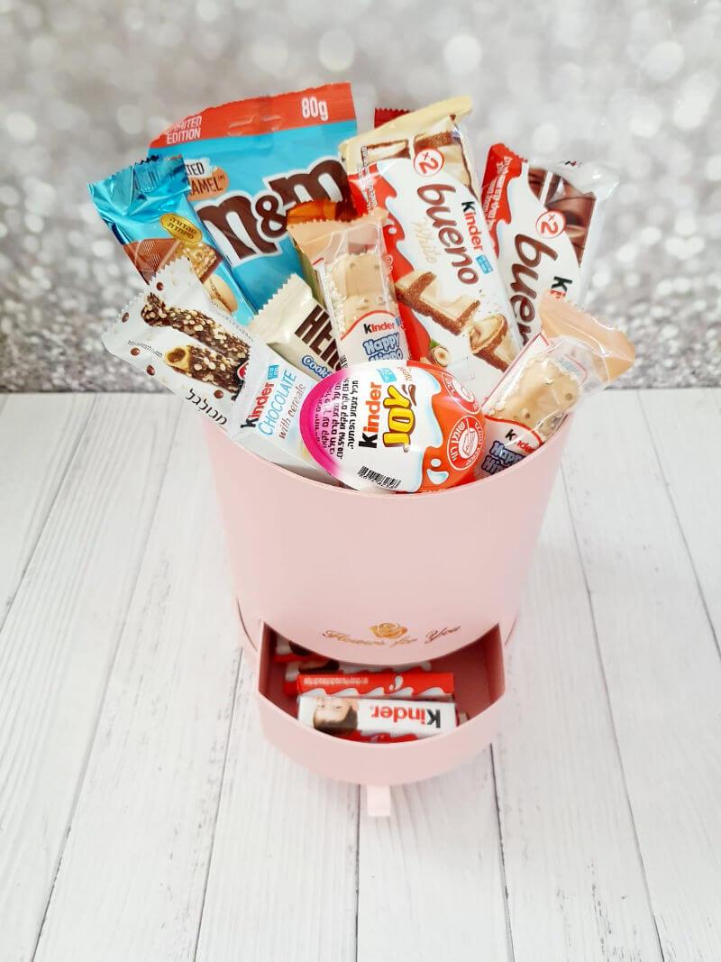 קופסת הפתעה מלאה שוקולדים ליום הולדת