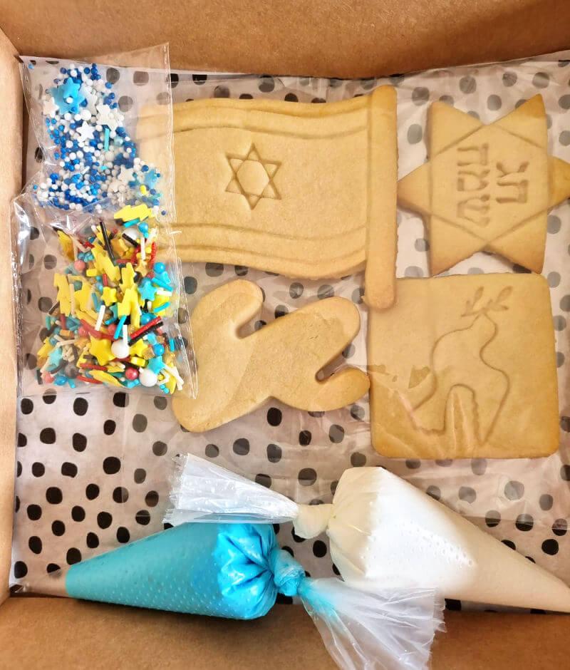 קיט לקישוט עוגיות ליום העצמאות